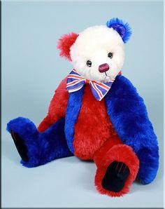 'George' My 2011 patriotic bear  Created by Paula Carter  #teddy  www.allbear.co.uk