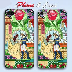 Beauty and The Beast Rose Custom iPhone 5 Case Cover