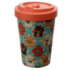 Lucky Cat Screw Top Travel Mug Cat Themed Gifts, Travel Cup, Maneki Neko, Little Gifts, Gifts For Kids, Composition, Recycling, Cool Stuff, Tableware