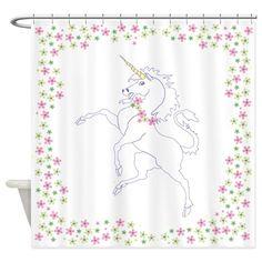 Classic Unicorn Shower Curtain on CafePress.com
