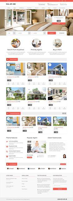 Real Spaces - Wordpress Real Estate Theme | #wordpresstheme #wordpresstemplates…