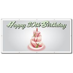 Happy Birthday Cake - x Vinyl Banner - coupon decor 90th Birthday Cakes, Happy 20th Birthday, Happy 30th, Vinyl Banners, Cake Banner, Discount Toms, Coach Discount, Discount Handbags, Discount Sites