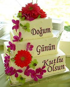 Birthday celebration cake with pictures - DogumGunu. Celebration Cakes, Birthday Celebration, Birthday Cards, Happy Birthday, Cake Birthday, Cake Pictures, Easy Cake Recipes, Martini, Frozen