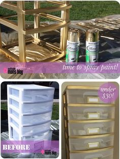 Amazing Spray Paint Project Ideas to Beautify Your Home Home Projects, Home Crafts, Diy Home Decor, Diy Crafts, Room Decor, Spray Paint Projects, Diy Spray Paint, Spray Paint Plastic, Dollar Store Crafts