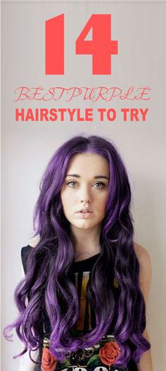 Hair Color to Try: Marvelous Purple Hair for Chic Fashionistas----Let's go to #Besthairbuy for learning more popular #Hairstyle---And now the 100% Human Hair is Up to 40% OFF DISCOUNT!
