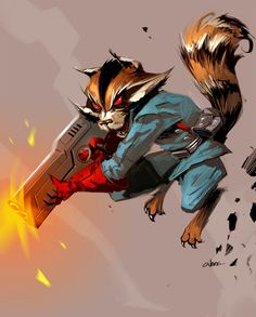 Rocket Raccoon by Crazymic on @DeviantArt