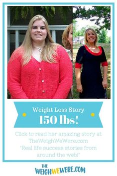 Amanda lost 150 pounds with portion control and zumba.  Read her inspirational transformation story and meal prep tips. Motivational before and after fitness success stories from men and women who hit their weight loss goals with training and dedication. | TheWeighWeWere.com