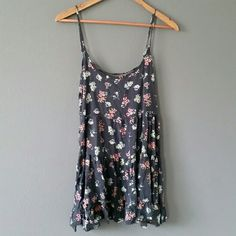 Navy Floral Jada Beautiful print. Washed and worn lightly. Great condition, no flaws. Semi rare print. Merc and pal accepted. One size fits most. Brandy Melville Dresses