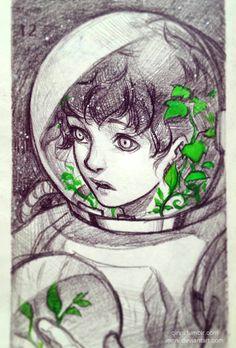 Astronaut. by Qinni.deviantart.com on @DeviantArt