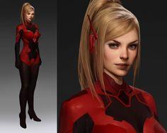 ArtStation - Crimson Samus, Betty Jiang