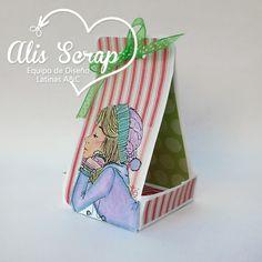 Alis nos muestra como hacer una cajita para chocolates Alis Scrap: Blog Hop Mini Tutoriales Navideños en LAC