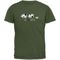 INPUGNITO Cow Military Green Youth T-Shirt