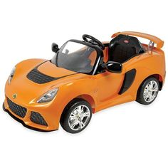 Dexton Kids Lotus Exige S Ride-On Car (3875 MAD) ❤ liked on Polyvore featuring orange