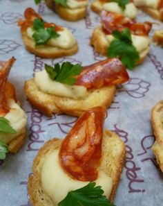 chorizo has to have a bite! Gorgeous canapes from Papa Deli, Alma Rd, Bristol.