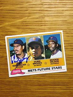 Juan Berenguer: (1978-1980 New York Mets) 1981 Topps baseball card signed in blue sharpie. (From my All-Time Mets Roster collection.)