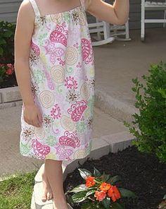 pillowcase dress - free pattern