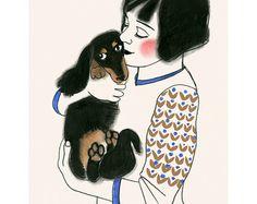 Bunny Rabbit Nursery Art Rabbit Art Print Rabbit by matouenpeluche