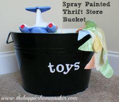 Spray Painted Thrift Store Bucket