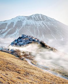 Castelluccio di Norcia, as it used to be before the earthquake ♠ photo by brahmino on Instagram