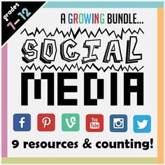 Connecting with students is important; what better way than bringing in social media to your lessons? Each product is versatile to the subject you teach, and the content you want to get across. Want your students to draw up a storyboard for a short video? (Vine) What about analyze a character in a novel? (Facebook) Brainstorm a topic? (Pinterest) Talk about a news story? (imgur)  Snapshot of history? (Instagram) Discuss the viewpoints of stakeholders? (Reddit).