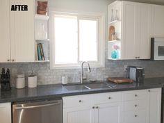 interesting grey backsplash for interior kitchen design ideas dark grey granite countertop connected by stainless