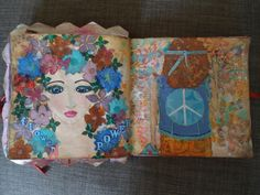 A mixed media journal-page