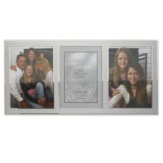 Lawrence Frames 2-Tone Triple Opening Panel Picture Frame, 5 by 7-Inch, Brushed Silver Metal and Shiny Metal -- You can find out more details at the link of the image. (This is an affiliate link) #PictureFrames