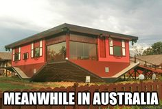 meanwhile in Australia.... upside down house