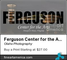 Word Art poster of the Ferguson Center for the Arts building at Christopher Newport University in Newport News, Virginia. Great poster for the CNU alumni.
