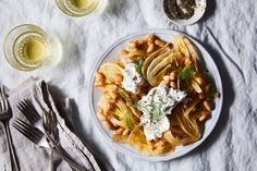 Shaved Fennel, Cannellini Beans, and Burrata with Hot Nduja Vinaigrette recipe on Food52