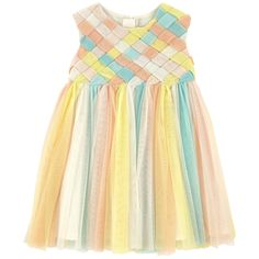 Polyamide tulle Voile lining Light Sleeveless shape Crew neck Invisible zipper at the back Light tulle – € Baby Girl Frocks, Frocks For Girls, Little Girl Dresses, Girls Frock Design, Baby Dress Design, Baby Frocks Designs, Kids Frocks Design, Kids Dress Wear, Baby Girl Dress Patterns