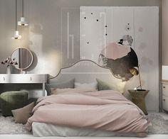 дизайн интерьера детской комнаты в пастельных тонах