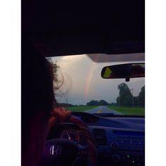 """#rainbow #south #northcarolina #summerevenings #rain"""