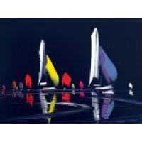 Midnight Sail by Duncan Macgregor Original Paintings For Sale, Original Art, Sailing, The Originals, Outdoor Decor, Artist, Candle, Artists