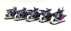 I finally took some shots of my first squad of Chaos Bikers. I also ramble a bit…