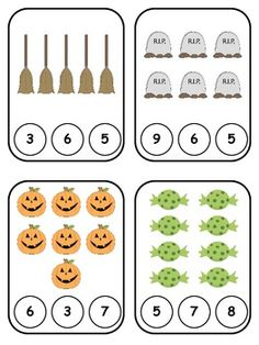Halloween Clothespin Counting Touch in sequence, one at a time. Put things in order. Theme Halloween, Halloween Math, Halloween Activities, Holiday Activities, Math Activities, Fall Preschool, Preschool Math, Kindergarten Classroom, Fun Math