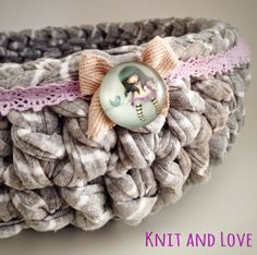 Knit and Love: PASO A PASO CESTA DE TRAPILLO REDONDA