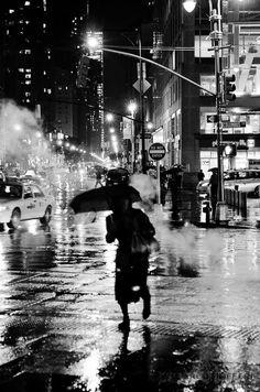 NYC Cityscape, New York City Photography, Fine art, Black and White, Street Photography, Rainy Day, Home Decor