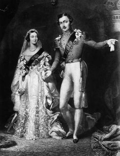 Queen Victoria marries Prince Albert on February 11, 1840 at the Chapel Royal, St. James Palace.
