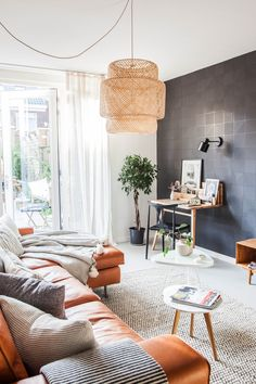 Gravity Home — Living room with dark wall | styling & photography...