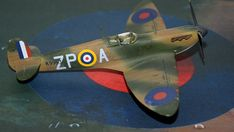 Supermarine Spitfire Mk.1a, P9953, ZP-A, No. 74 Squadron, Sq.-Ldr. D.F. Sailor Malan, RAF Battle of Britain, summer 1940 Supermarine Spitfire, Battle Of Britain, Ldr, Scale Models, Sailor, Creative, Summer, Autos, Dioramas