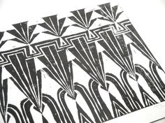 Art Deco Repeating Geometric Pattern