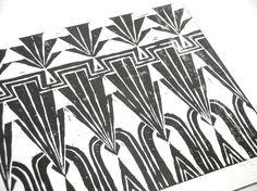 Art Deco Repeating Geometric Pattern