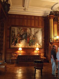 Kingston Lacy, Dorset, UK, The Dining Room - Painting on the far wall: 'The Judgement of Solomon', attributed to Sebastiano del Piombo (c.1485-1547).