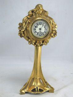 Art Nouveau Clocks | Art Nouveau Gold Gilded Clock--c.1890s--10 ... | ~~A moment in time ...