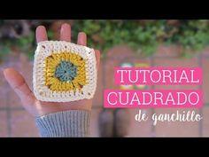 Como hacer un cuadrado de ganchillo   Crochet square - YouTube