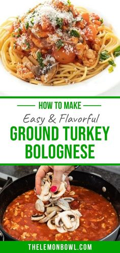 The last bolognese recipe you'll need to make! It's easy to cook, tasty and flavorful (and freezes well too)! Friends and family approved this hearty pasta dish! Cold Pasta Recipes, Cold Pasta Dishes, Easy Turkey Recipes, Ground Turkey Recipes, Lunch Recipes, Dinner Recipes, Healthy Recipes, Turkey Bolognese, Bolognese Recipe