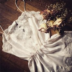 Vintage silk and lace and roses, some of my favorite things... #vintage #lace #silk #old #lingerie #vintageunderwear