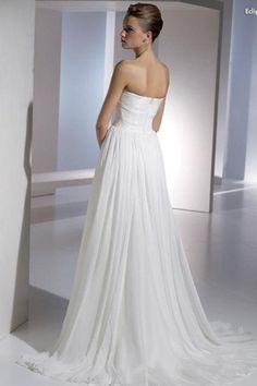 Lace Goddess Chiffon Simple Wedding Dress