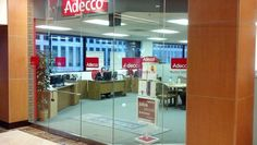 Another great project!  Adecco - Simple rat graphics for storefront space.  By Worldwide Graphics & Sign Co.